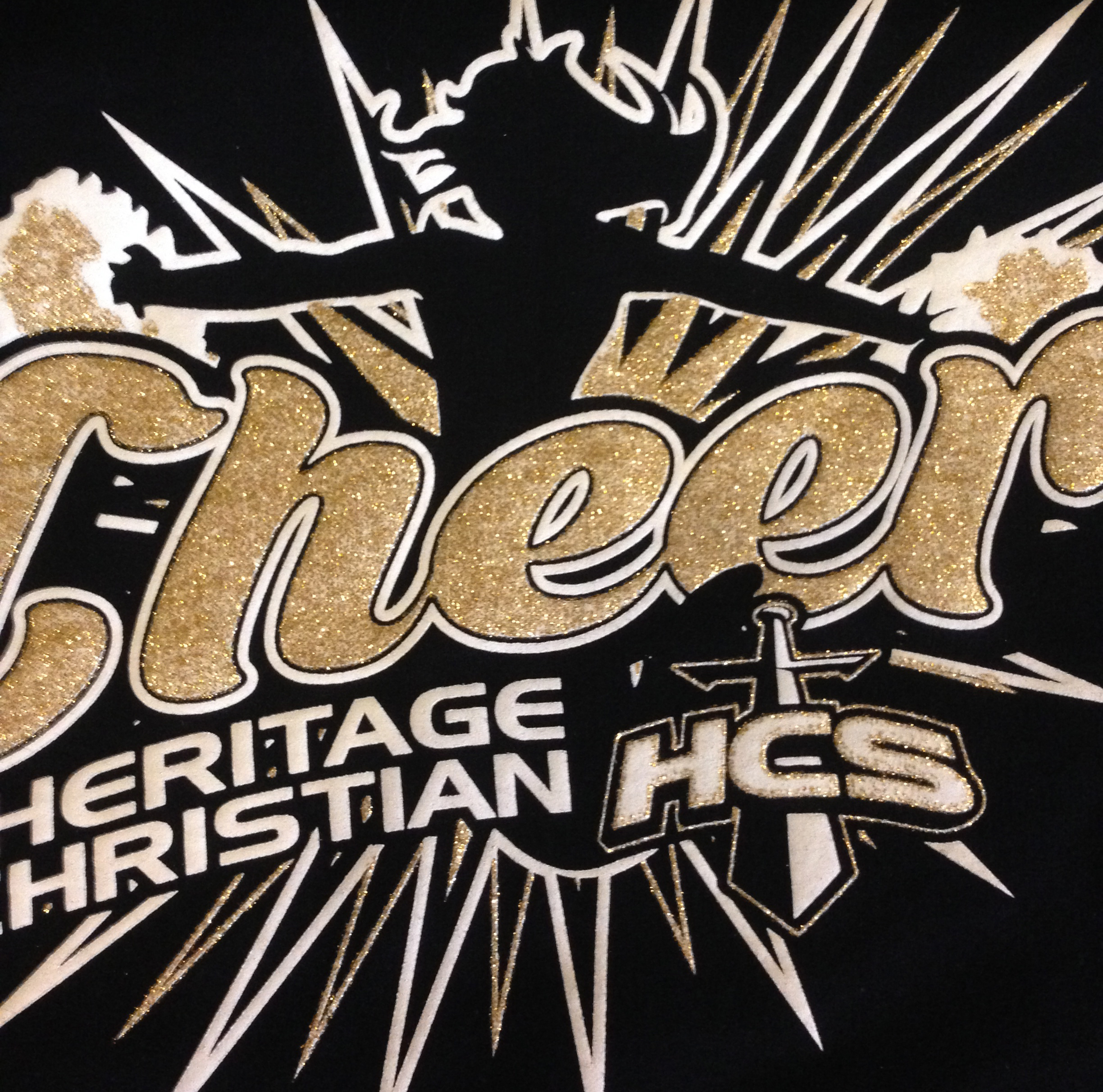 560109100944 Glitter Printing on your next Custom T-Shirt - Ministry Gear
